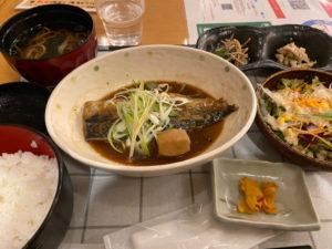 サバ味噌煮込み定食(¥750税込)「産直酒場 馬と魚 本町店」
