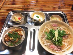 「アンゴン」のベトナム汁麺ランチ 1,000円(税込)