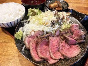 ローストビーフ定食¥890