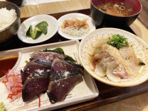 カツオとさくらの上定食¥1,500_3