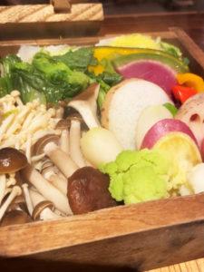 十二種のお野菜せいろご膳(¥1000税込)「空色COLOR」