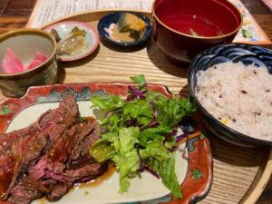 牛ハラミのローストビーフ定食(¥1000税込)「空色Color」