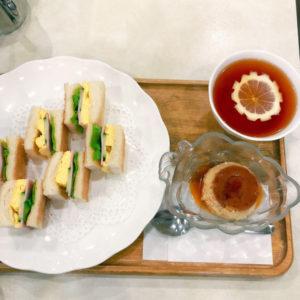 「喫茶オーシャン」オーシャンセット(プリン付き)750円(税込)