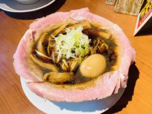 自由 ¥940 + メンマ¥150 + とろ~り半熟煮玉子¥120「ラーメン大戦争」