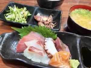 お刺身盛り合わせ定食¥850