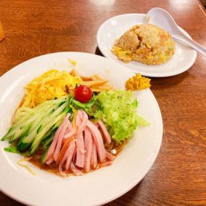 冷麺定食 750円(税込)「珍八香(チャコ)」