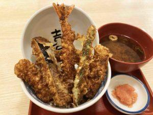 海老一本丼¥650+赤だし¥150_2