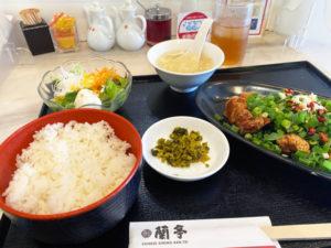 「蘭亭」特製酢豚定食 1,120円(税込)