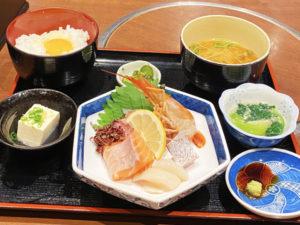 「大阪産(もん)料理 空」お造り定食 1,000円(税込)