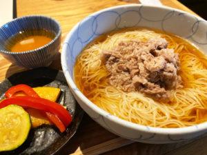 「船場虎島」肉そうめん(¥1210税込)