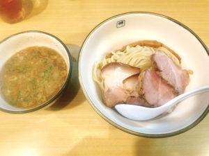 「麺や 輝」のチャーシューつけ麺 1050円